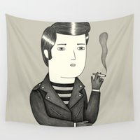 elvis Wall Tapestries featuring Elvis by Ana Albero