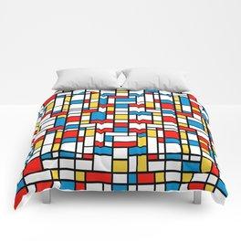 Mondrian design, abstract pattern Comforters