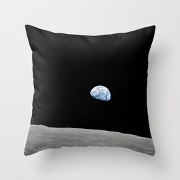 Apollo 8 - Iconic Earthrise Photograph Throw Pillow
