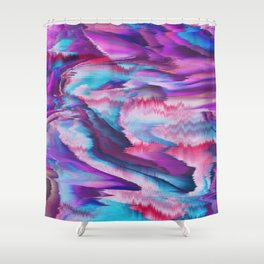 Abstract modern violet pink teal watercolor Shower Curtain