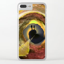 Sunset Stroll Clear iPhone Case