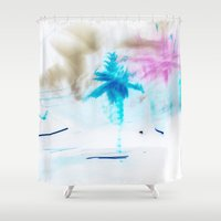 preppy Shower Curtains featuring Preppy Beach by EPART