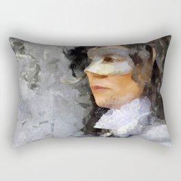 Woman with mask Rectangular Pillow