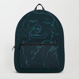 Smell life. Blue Backpack