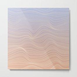 Pastel lines Metal Print