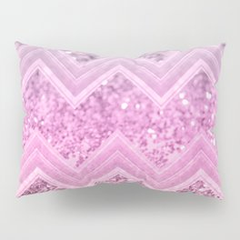 Unicorn Glitter Chevron #2 #shiny #decor #art #society6 Pillow Sham