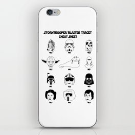 Stormtrooper Blaster Target Cheat Sheet iPhone Skin