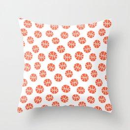 Basketball Pattern Throw Pillow