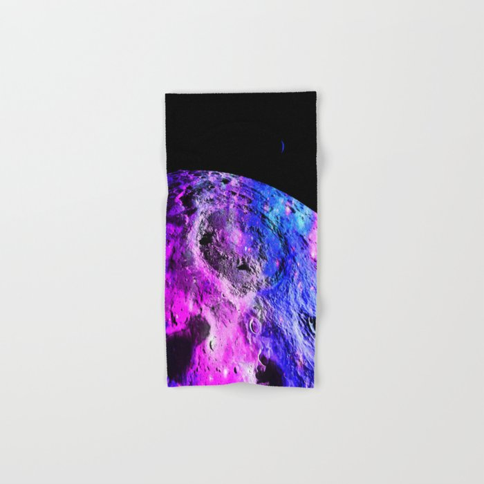Purple Blue Galaxy Moon Hand & Bath Towel