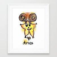 aries Framed Art Prints featuring Aries by sladja
