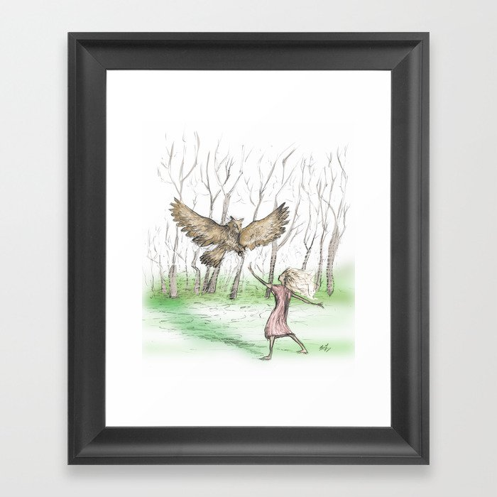 Owl Guide Framed Art Print
