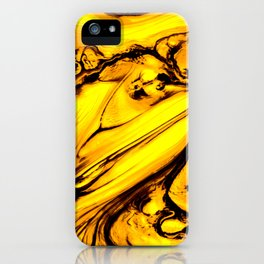 Honey Golden Abstract Painting iPhone Case