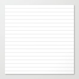 White and Grey Horizontal Stripes Canvas Print