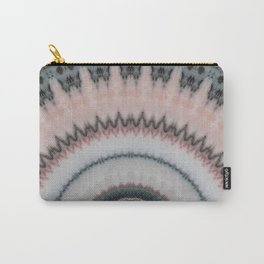 Pastel Pink Rose Textured Mandala Carry-All Pouch