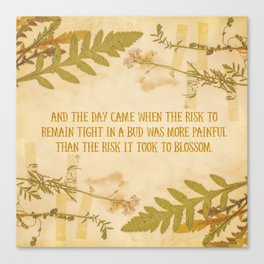 Autumn Anais Nin Quote Canvas Print
