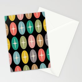 Geometric Oval and Star Pattern 147 Stationery Cards