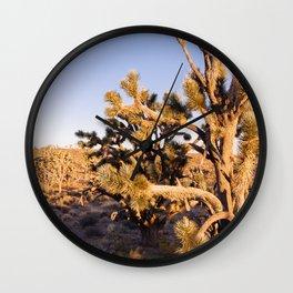 Joshua Trees at Sunrise Wall Clock
