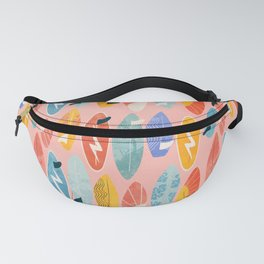 Surfboard pink Fanny Pack
