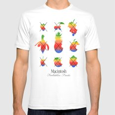 mac forbidden fruits White Mens Fitted Tee MEDIUM