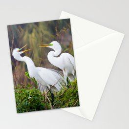 Egret Pair Stationery Cards