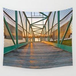 Casino Island Sunset Bridge Wall Tapestry