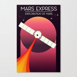 Mars Express - Exploration of Mars Space Art. Canvas Print