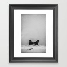 Slinky cat Framed Art Print