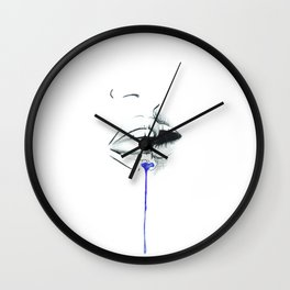 First Kiss Blue Wall Clock