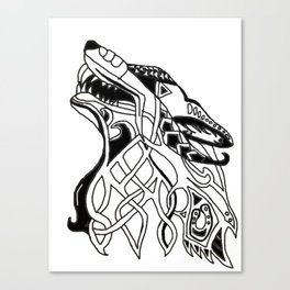 Viking Wolf Canvas Print
