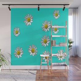 Daisies drawn Wall Mural