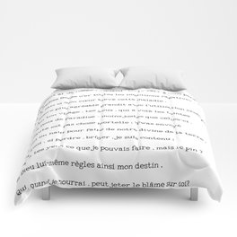 Loves Excuse - French Itallian Script Dal dolcie pianto Comforters