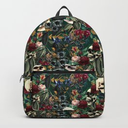 Flowers and Skulls (Green) Backpack