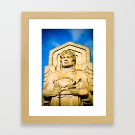 Statue On Hope Memorial Bridge II Framed Art Print