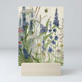 Wildflowers 2 watercolor Mini Art Print