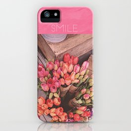 SMILING TULIPS iPhone Case