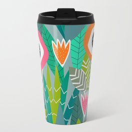 Abstract multicolored jungle Travel Mug