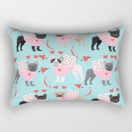 French Bulldog valentines day love bug must have frenchie dog breed Rectangular Pillow