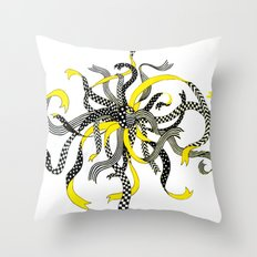 Swirling Ribbons Throw Pillow