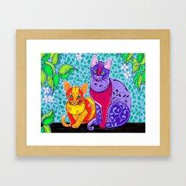 Designer Cats Framed Art Print