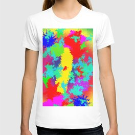 Colourful Random Trippy Pattern T-shirt