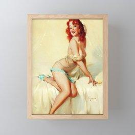 Pin Up Girl Bedside Manner Gil Elvgren Framed Mini Art Print