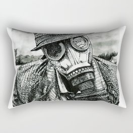 Gas Mask Rectangular Pillow
