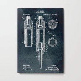 1894 - Pneumatic tool Metal Print