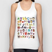 sesame street Tank Tops featuring Sesame Street Alphabet by Mike Boon