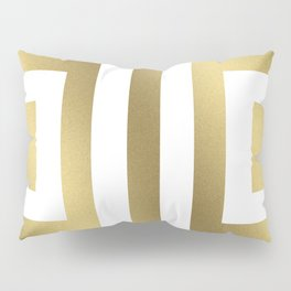 Gold Greek Stripes Pillow Sham