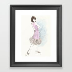 'Abby' Watercolor Fashion Illustration Framed Art Print