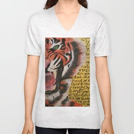 The Tyger  Unisex V-Neck