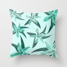 Quote - Work hard Stay Humble - Flower Throw Pillow