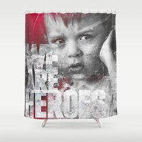 toddler Shower Curtains featuring Hero Sessions III by HappyMelvin