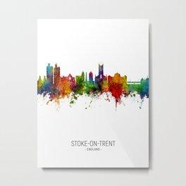 Stoke-on-Trent England Skyline Metal Print